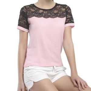 Tops - Women Casual Lace Chiffon Summer Blouse